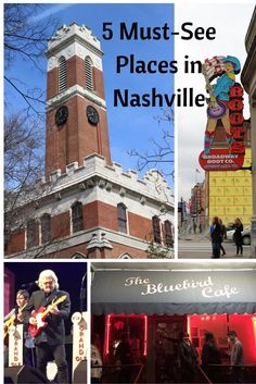 Going to Nashville? Click through to see the 5 Must-See Sights Places to Go! Country Music Hall of Fame Nashville Things To Do, Nashville Restaurants Best, Nashville Vacation, Tennessee Vacation, Nashville Must Do, Nashville Tennessee, Nashville Broadway, Visit Tennessee, Grand Ole Opry