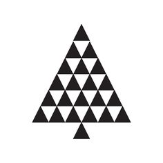 triangle christmas tree icon | Free Icons Download