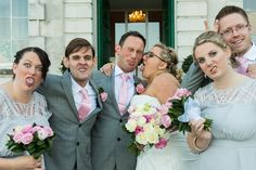 Funny Faced Wedding Party