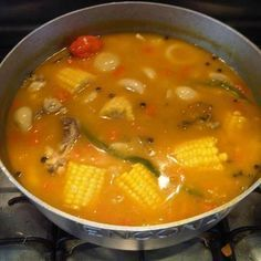 Chicken Soup -Jamaican Food / Cuisine: Lick yuh lips and ten finga dem Jamaican Soup, Jamaican Chicken Soup, Jamaican Cuisine, Jamaican Dishes, Jamaican Recipes, Chicken Curry, Carribean Food, Caribbean Recipes, Gourmet