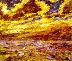 "Emil Nolde ~ ""Mer en automne -VII"" 1910"