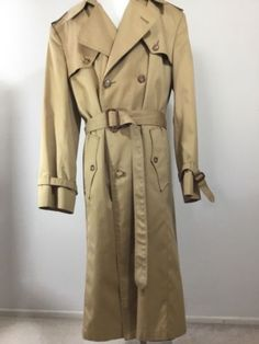 1bc4a48cbb044 Christian Dior Men s Monsieur Trench Coat Paris NY Khaki Double Breasted SZ  42L