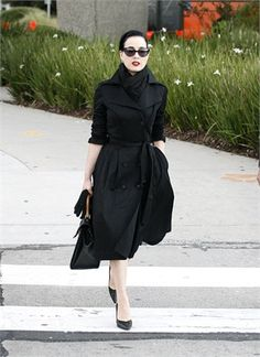 Dita Von Teese yesterday in Melbourne