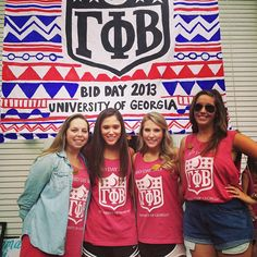 """Gamma Phi on Bid Day. My chapter used this theme too! """"NFL: Nation's Finest Ladies. Drafting the Best since 1874"""""""