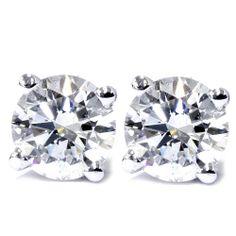 .25CT Diamond Studs 14K White Gold
