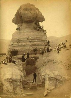 American baseball players at the Sphinx in 1888.