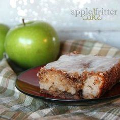 Cookies and Cups - Apple Fritter Cake Apple Fritter Cake made with Greek Yogurt and a Vanilla Glaze. Cake that derived from a breakfast food, shape-shifted into a cake, disguised as dessert. Apple Recipes, Sweet Recipes, Cake Recipes, Dessert Recipes, Cookbook Recipes, Apple Fritter Cake, Apple Fritters, Apple Cake, Carrot Cake