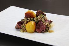 Onglet au beurre d'anchois et pommes de terre nouvelles de Florent Ladeyn finaliste Top Chef 2013