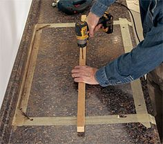 Cut a Laminate Countertop for a Sink - Fine Homebuilding Formica Countertops, How To Install Countertops, Update Kitchen Cabinets, Painting Kitchen Cabinets, Kitchen Sink, Diy Kitchen Remodel, Kitchen Remodeling, Kitchen Layout, Kitchen Design