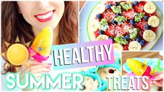 Healthy Treats For School And Studying! Easy + Quick! - YouTube