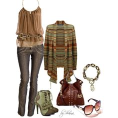 """""""This Ralph Lauren cardi goes great with the Michael Kors accessories"""" by shauna-rogers on Polyvore"""
