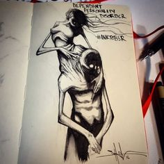 Artists Illustrates Mental Illness And Disorders For Inktober