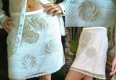 Short Silk Transparent with Ten spirals Cotton Silk by EnzaMorrone