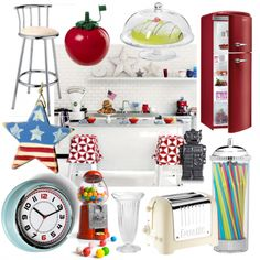 Embrace classic Americana with these fab diner-style kitchen accessories!