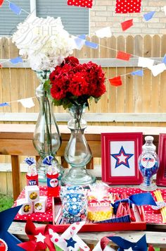 4th of july decor and food :)