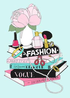 Fashion Book Stack... Medium by emmakisstina on Etsy, kr150.00