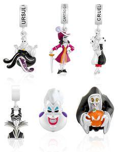 Pingentes Vilões Disney da Life by Vivara - Cruella devil, Úrsula, Malévola, Capitão Gancho...
