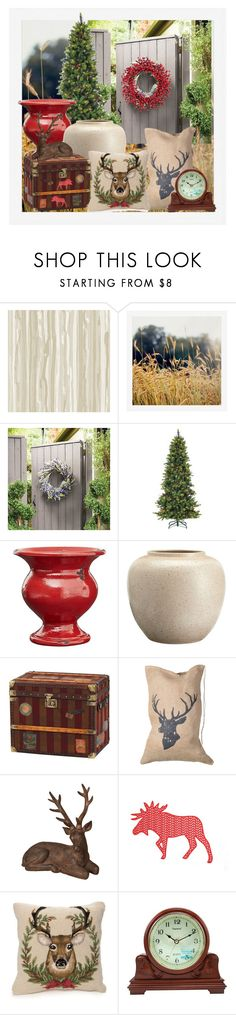 """""""Reindeer"""" by yvettemmh ❤ liked on Polyvore featuring interior, interiors, interior design, home, home decor, interior decorating, Cole & Son, Pottery Barn, Frontgate and Peking Handicraft"""