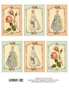Ephemera's Vintage Garden: Free Printable of the Week - London Chic Cards