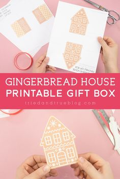 Grab this Gingerbread House Gift Box free printable to make gift giving so much easier this year! Perfect to fill with candy, toys, and more! Classroom Treats, Christmas Craft Projects, House Gifts, Last Minute Gifts, Gifts For Coworkers, Office Gifts, Holiday Gifts, Free Printables, Gingerbread