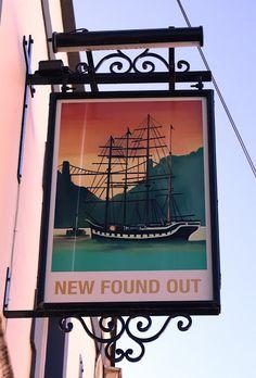 Pub Sign Art a la cARTe: The New Found Out - Bristol