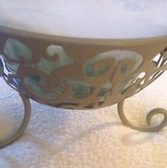 Signature Homestyles Decor Glass Bowl Green With Stones