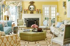 Sweet Home Alabama - % Living Room Color Combination, Living Room Color Schemes, Living Room Designs, Living Room Decor, Room Paint Colors, Paint Colors For Living Room, Wall Colors, Yellow Walls Living Room, Yellow Rooms