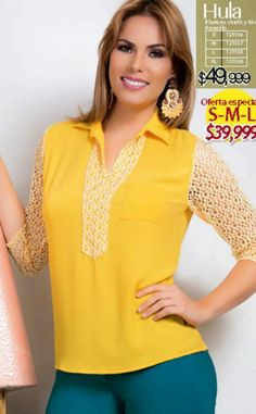 Tunic Tops, Toque, Yellow, Blouse, Long Sleeve, Sleeves, Black, Women, Fashion