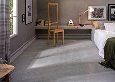 Subtiel verouderd decor in een betonlook tegel 75x75. Af te wisselen met een effen variant in dezelfde maat. (29)