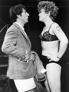 """Rue McClanahan & Dustin Hoffman in the 1968 musical """"Jimmy Shine"""""""