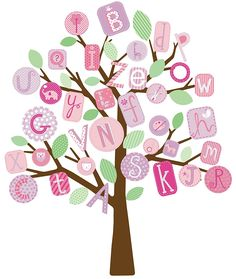 RoomMates RMK2026SLM ABC Pink Tree Peel and Stick Giant Wall Decals >>> Review more details here (This is an amazon affiliate link. I may earn commission from it)