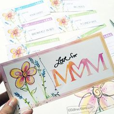 Download and print this pretty coupon book for Mom designed by Jen Goode