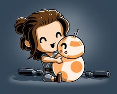 These adorable BFFs are a force to be reckoned with! Get the BBFFs t-shirt only - Star Wars Tshirt - Trending and Latest Star Wars Shirts - These adorable BFFs are a force to be reckoned with! Get the BBFFs t-shirt only at TeeTurtle! Droides Star Wars, Star Wars Love, Star War 3, Star Wars Gifts, Geeks, Star Wars Personajes, Cute Stars, Star Wars Tshirt, Ewok