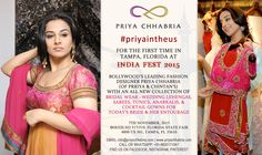 Second day of ‪#‎priyaintheus‬ Priya Chhabria showcasing her all new collection of Bridal wear, Wedding lehengas, Sarees, Tunics, Anarkalis & Cocktail gowns. Date: 7th Nov. 2015. Venue: Booth no 517/519, Florida State Fair 4800 US 301 TAMPA, FL 33610 EMAIL: info@priyachhabria.com | www.priyachhabria.com CALL OR WHATSAPP: +91-9820171047 FIND US ON FACEBOOK, INSTAGRAM, PINTEREST ‪#‎priyachhabria‬ #priyaintheus ‪#‎usa‬ ‪#‎designercollection‬