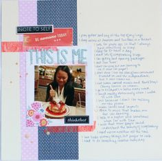 This is Me Scrapbooking Ideas, Scrapbook Layouts, Note To Self, Playing Guitar, Singing, Packaging, My Favorite Things, Day, Blog