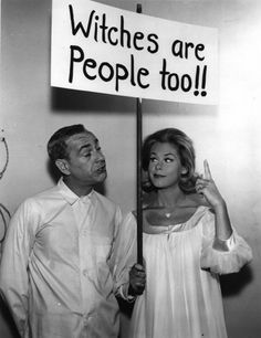 Witches are people too!! classic television show Bewitched originally black and white http://geyserofawesome.com/post/1439462239/witches-are-people-too-via-classic-television