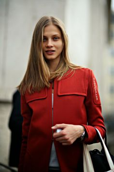 MODELS JAM: Anna Selezneva before Anthony Vaccarello, Paris, February 2014