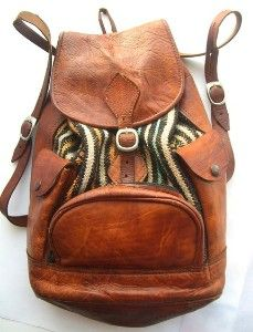 Vintage Leather Backpack For The Hippie Wandering Soul | Kaboodle