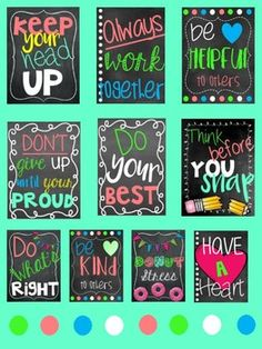 Classroom Decor Posters for Classroom. by Kelsey Hilliard Kids Bulletin Boards, Classroom Board, Classroom Design, Classroom Themes, School Classroom, Classroom Organization, Classroom Management, Kindness Bulletin Board, Inspirational Classroom Posters
