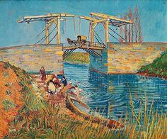 The Langlois Bridge at Arles with Women Washing. Vincent   van Gogh                                                     Kröller-Müller Museum, Otterlo. 1888. 54.0 x 65.0 cm.