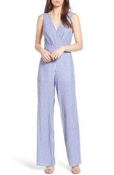 2865a4ecdaeb New Dee Elly Stripe Cotton Jumpsuit