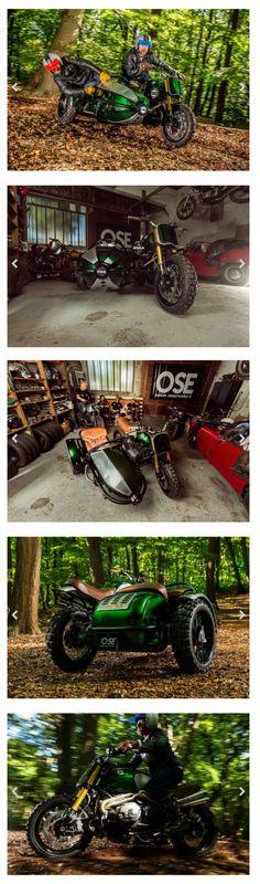 BMW R nineT Scrambler Sidecar - Old School Engineering Tracker Motorcycle, Scrambler Motorcycle, Bobber Motorcycle, Bmw Motorcycles, Vintage Motorcycles, Street Scrambler, Ducati, Yamaha, Honda Cb
