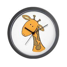 greg the giraffe Wall Clock