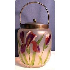 Victorian Biscuit Jars | Biscuit Jar or Barrel Victorian American Glass from drury on Ruby Lane