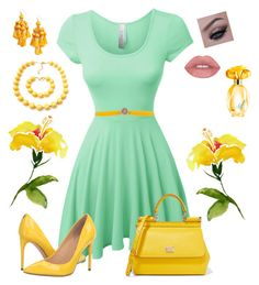 """""""Touches of Yellow"""" by melissa-markel on Polyvore featuring LE3NO, Orciani, Ivanka Trump, Dolce&Gabbana, Kate Spade and GUESS"""