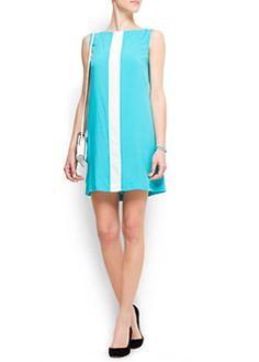 Mango blue dress - white line    www.mango.com