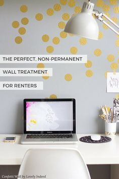 Renters rejoice! Apartment living just got a lot more stylish. Dress up your walls with simple, easy, inexpensive and non-permanent wall decals from @wallsneedlove. They go one easy and remove clean. It's as simple as peel stick done!