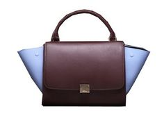 Celine Trapeze Bag Original Leather C3342 Burgundy Lavender