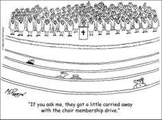 Choir's taken over the church!