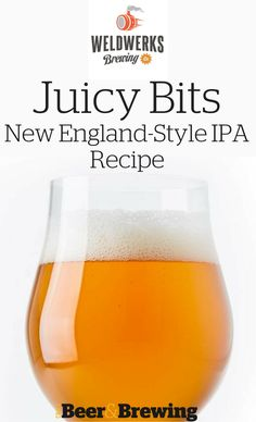 Juicy Bits from WeldWerks Brewing Co. in Greeley, Colorado, is a New England–style IPA that has quickly garnered both regional and national attention for the brewery. Brewing Recipes, Homebrew Recipes, Beer Recipes, Coffee Recipes, Home Brewery, Home Brewing Beer, Brewing Co, Ginger Ale, Ipa Recipe